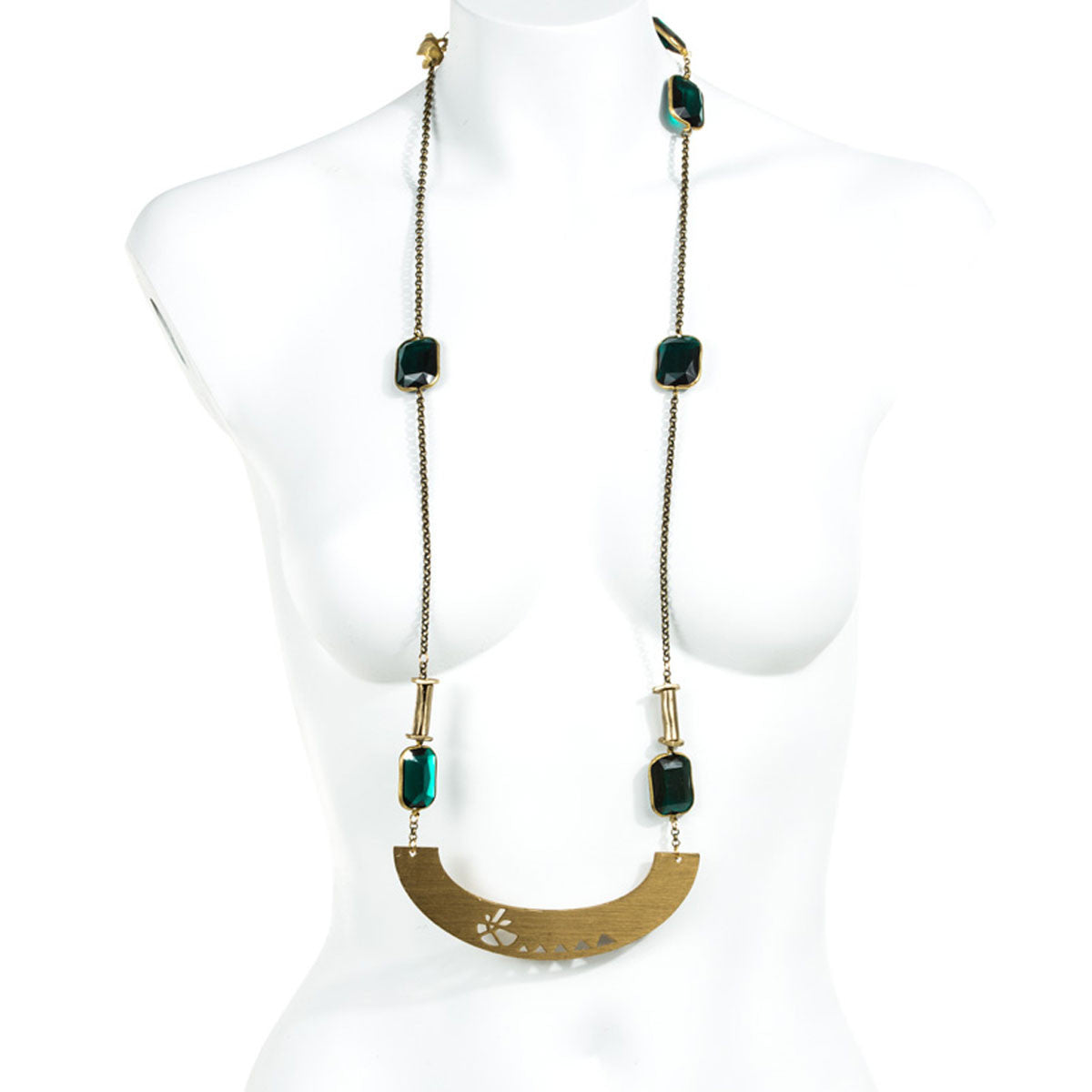 ARCH AND EMERALD LUCITE