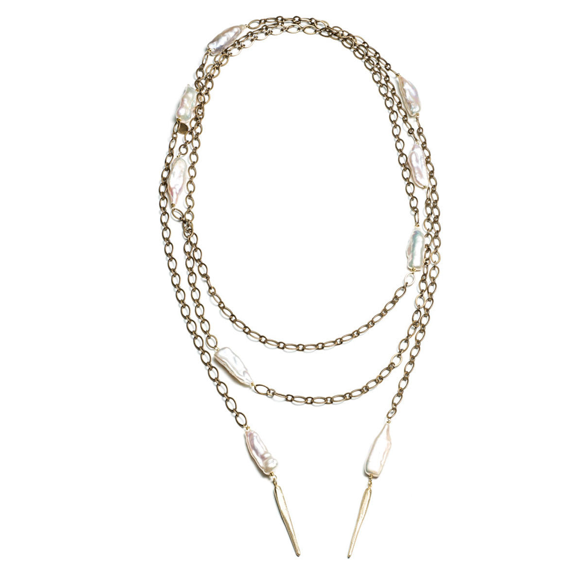 DAGGERS AND PEARL LARIAT