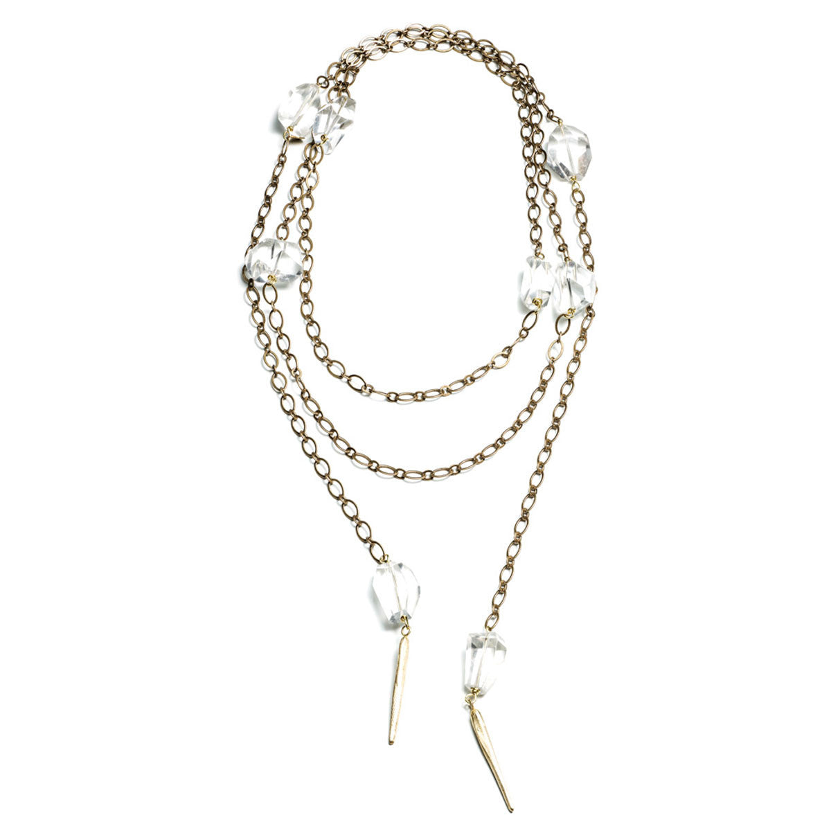 DAGGERS AND ROCK CRYSTAL LARIAT