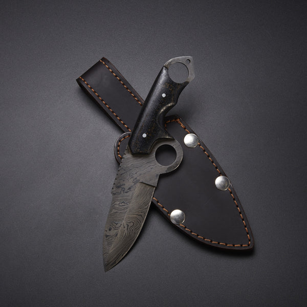 |NB KNIVES| CUSTOM HANDMADE DAMASCUS HUNTING KNIFE Materials Micarta, Damascus Steel