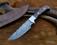 "10"" Fixed Blades Custom Hand Forged Damascus Steel Blade Hunting Knife"