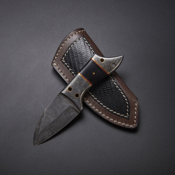 |NB KNIVES| CUSTOM HANDMADE DAMASCUS hUNTING KNIFE Damascus, Micarta, Brass