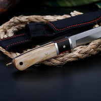 "8"" Tactical Straight Pocket Hunting Survival Fixed Blade Knife EDC"