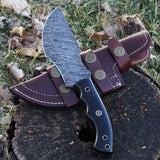 Custom Handmade Damascus Tracker knife