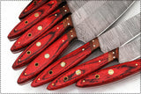 CUSTOM MADE DAMASCUS BLADE 8 Pc's. KITCHEN/CHEF KNIVES SET
