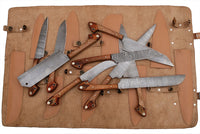 CUSTOM MADE DAMASCUS BLADE 9Pcs. CHEF/KITCHEN KNIVES