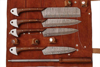 Custom Handmade Damascus Professional kitchen Chef knives set-5-Piece