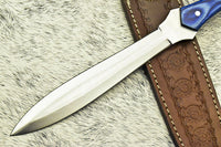 HAND MADE D2 TOOL STEEL BLADE FULL TANG KNIFE | HARD WOOD