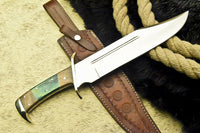 HAND MADE D2 TOOL STEEL BLADE FULL TANG KNIFE | HARD