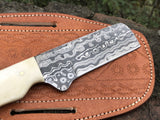 Custom Handmade Damascus Steel Bull Cutter knife
