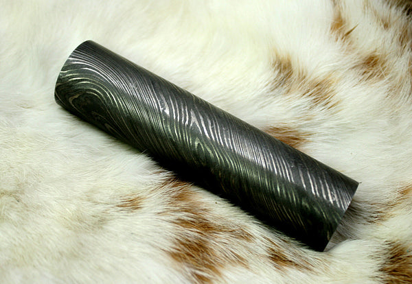 Damascus Steel Round Bar Rod-Jewelry-Pen-Buckle-rings Making Supply