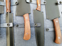 CUSTOM HAND MADE DAMASCUS 6 PCS CHEF SET WITH LEATHER ROLL KIT