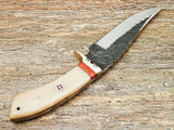 Hand Forged Knife-High Carbon Steel Blade Camel Bone Handle