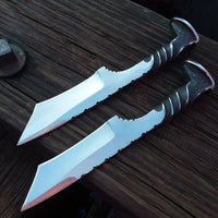 Couple of Hand Forged Rail Road Spike Steel Tonto Blade Knives