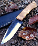 CUSTOM HAND FORGED HUNTING KNIFE Handle Made of Wood