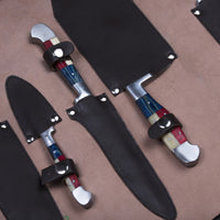 CUSTOM HANDMADE DAMASCUS 5 PCS KITCHEN CHEF SET