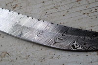 |NB KNIVES| CUSTOM HANDMADE DAMASCUS FILLET KNIFE WITH LEATHER SHEATH