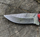|NB KNIVES| Custom Handmade Damascus Hunting Knife Handle Hardwood