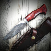 Damascus hand made Bowie