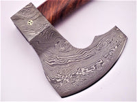 Hand Forged Damascus Axe, Hunting