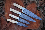 Custome hand made damascus chef set