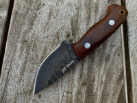 |NB KNIVES| CUSTOM HAND FORGE 1095 STEEL SKINNER KNIFE HANDLE ROSEWOOD
