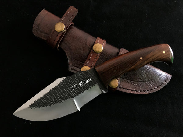 |NB KNIVES| Custom Hand Made Hunting knife Rose Wood Handle