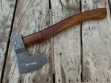 |NB KNIVES| CUSTOM HAND FORGED DAMASCUS STEEL AXE HANDLE ROSEWOOD