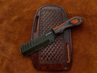 |NB KNIVES| CUSTOM HANDMADE COWBOY BULL CUTTER KNIFE WITH LEATHER SHEATH
