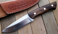 CUSTOM HANDMADE D2 TOOL STEEL HUNTING KNIFE /ROSEWOOD