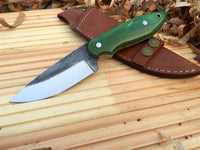 CUSTOM HANDMADE HUNTING/BUSHCRAFT KNIFE FROM FILE HANDLE HARDWOOD