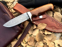 CUSTOM HANDMADE DAMASCUS STEEL KNIFE /ROSEWOOD HANDLE