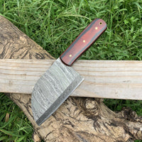 CUSTOM HANDMADE DAMASCUS STEEL CLEAVER CHOPPER KITCHEN CHEF KNIFE
