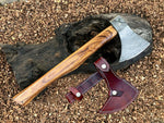 Awesome Custom Handmade Damascus Steel Axe with Sheath