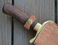 CUSTOM HANDMADE D2 STEEL WITH ROSE WOOD BOWIE KNIFE