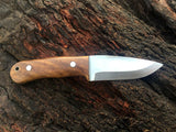 CUSTOM HANDMADE HIGH Corban Steel SCANDI GRIND BUSHCRAFT KNIFE HANDLE ROSEWOOD