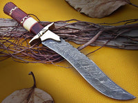 DAMASCUS KNIFE DAMASCUS STEEL CUSTOM HANDMADE HUNTING KNIFE
