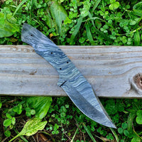 "Custom Hand Made Damascus Steel 9"" Blank Blade Knife Making Supply"