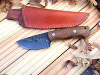 CUSTOM HANDMADE 1095 HIGH CARBON STEEL HUNTING,BUSHCRAFT KNIFE HANDLE ROSEWOOD