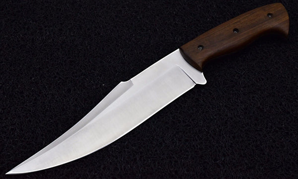 CUSTOM HANDMADE D2 STEEL HUNTING KNIFE WITH ROSEWOOD HANDEL