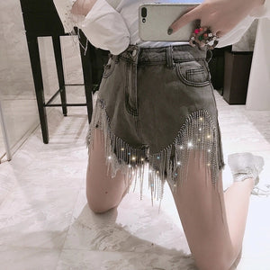 Bling Me Up Diamond High Waisted Shorts