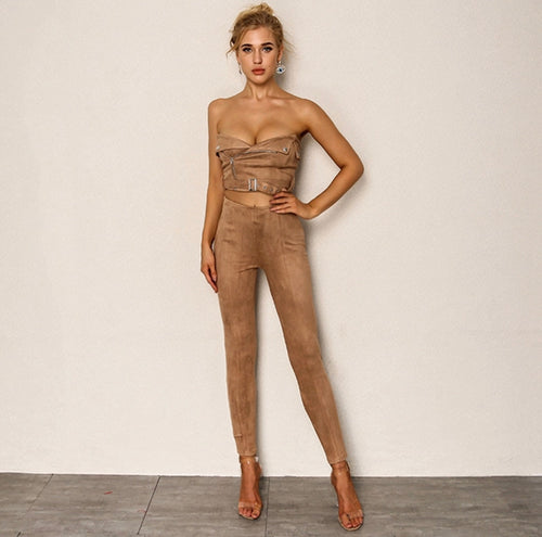 Smooth Moves Buckle Two-Piece Pant Set SALE