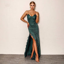 Load image into Gallery viewer, Dasher Green Maxi Dress