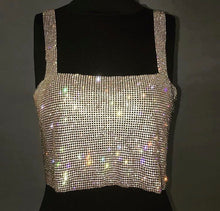 Load image into Gallery viewer, Heavy Metal Strapped Metal Chained Crop Top