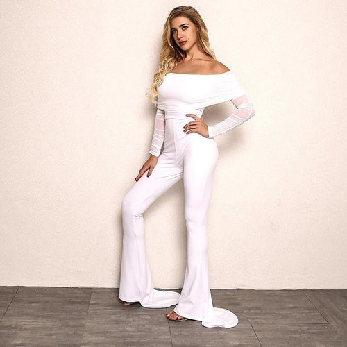 Kenny White Holiday Jumpsuit