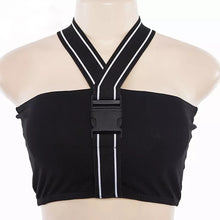 Load image into Gallery viewer, Buckle Up Buttercup Buckle Crop Top