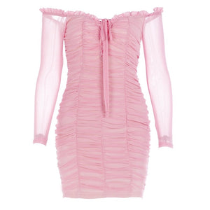 BB GIRL Pink Off the Shoulder Mini Dress