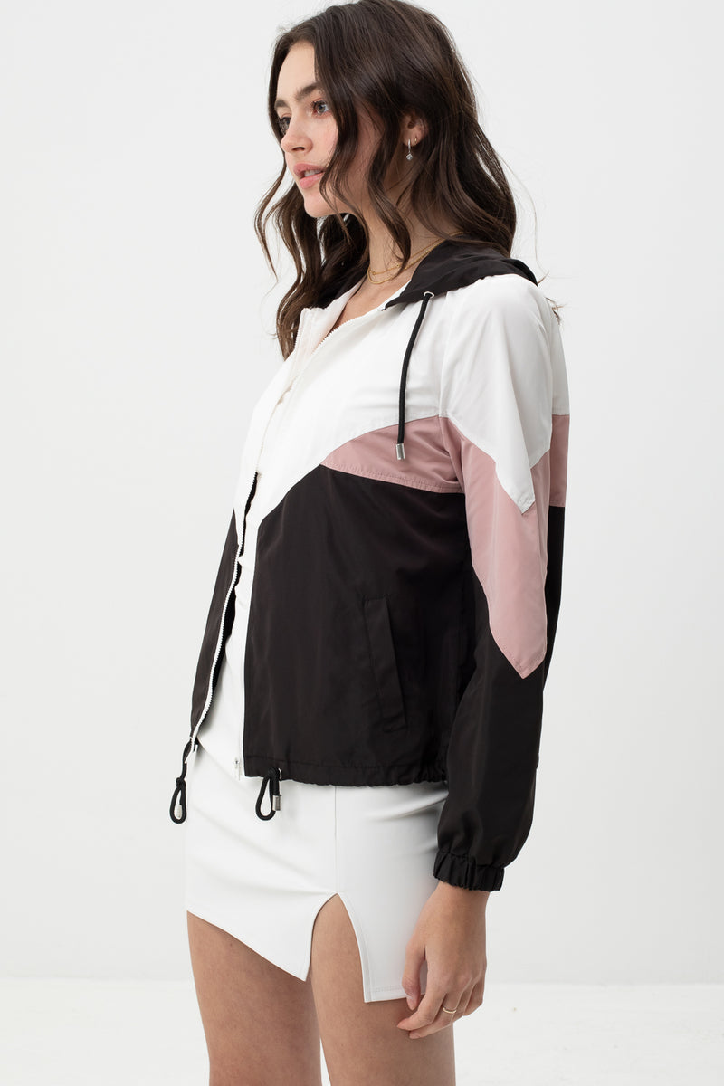Shaina - Color block Windbreaker