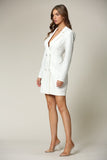 Mayten - A blazer dress featuring a notched, lapel collar