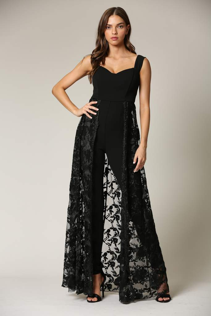 Maraya- Lace Embroidered Jumpsuit